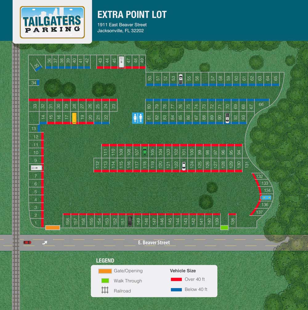 Tailgaters parking season tickets jaguar parking map